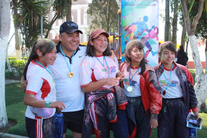 """Realizan en Tetla la Carrera de la Juventud """"Run Tetla Color"""""""