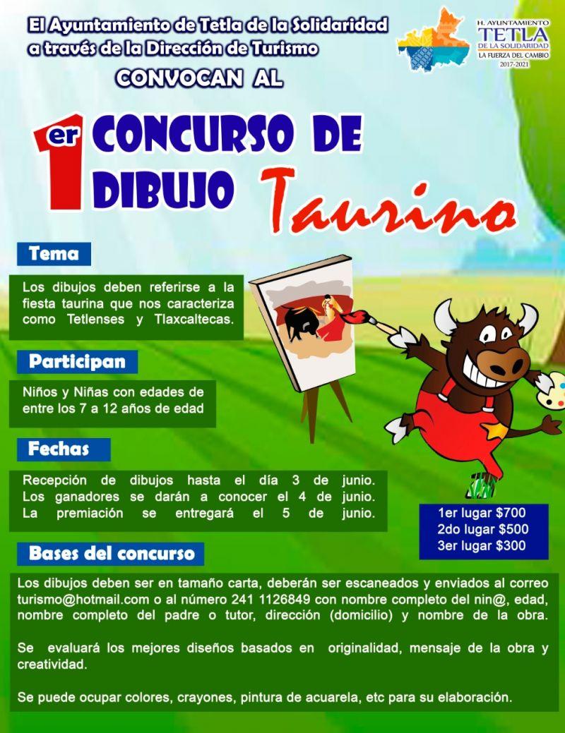 ESCUELA TAURINA DE TETLA LANZA CONCURSO DE DIBUJO INFANTIL.