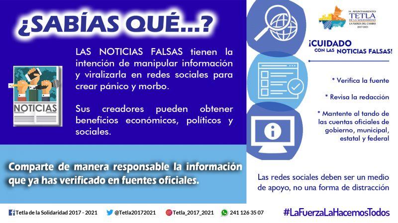 Exhortan en Tetla a realizar un manejo responsable de la información